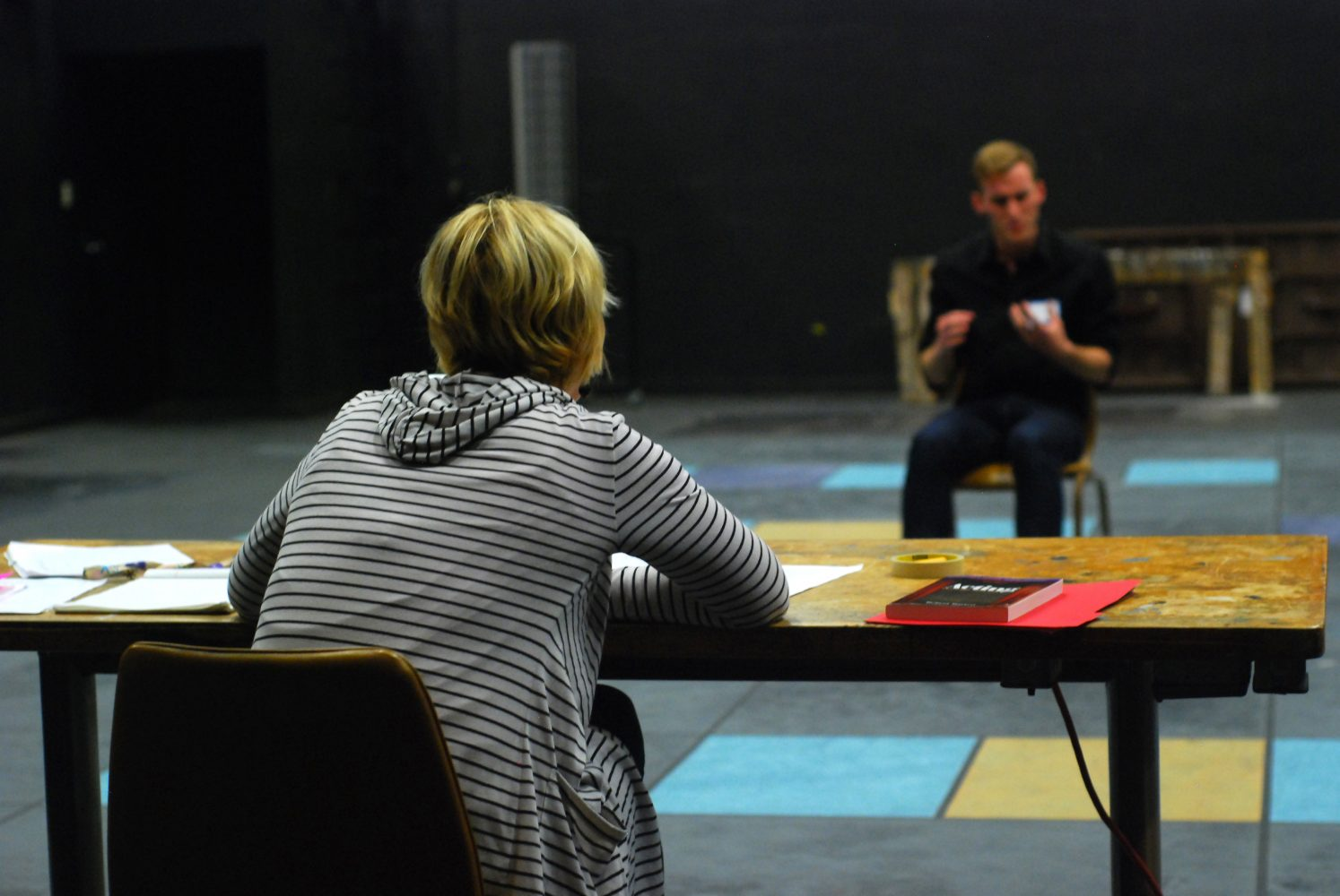 Director Heather Williams took notes as hopeful actors recited their monologues. Brad Farrell/Winonan
