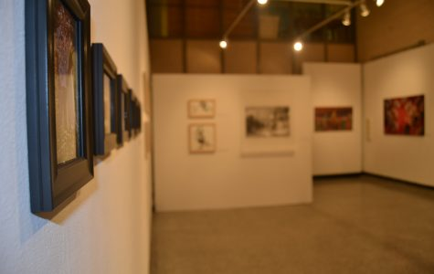 The Faculty Art Show is located in the Watkins Gallery, on the first floor of Watkins Hall. KELSEY CHERWINKA