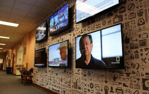 Phelps Hall introduces six new flat screen televisions. TAYLOR NYMAN