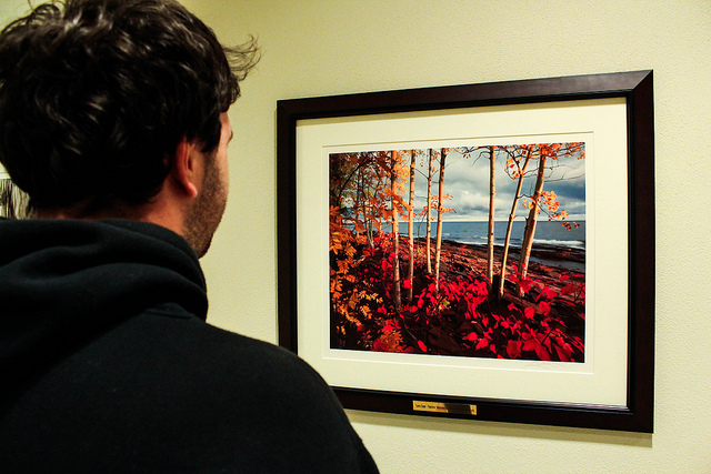 The new photography in Somsen Hall catches the eye of Luke Peacock. TAYLOR NYMAN
