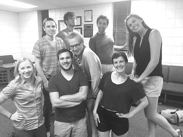From left to right: Winona State's Runner Up Club: Adam Calcagno, Jake Nielsen, Brad Krieger,             GINA SCOTT Elladee Zak, Lindsey Nelson, Keagan Anderson, Alex Buchanan, Megan Hayes. (Photo by Gina Scott)