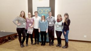 From left to right: Features editor Ana Alexander, editor-in-chief Allison Mueller, news reporter Nathaniel Nelson, features reporter Kaysey Price, sports editor Sam Thiel, news editor Samantha Stetzer and news reporter Sara Tiradossi. These Winonan editors and reporters attended the ACP Best of the Midwest Conference over the weekend in Minneapolis and took home awards in four categories. (Contributed photo)