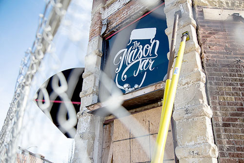 The Mason Jar is still undergoing renovations after a blaze damaged the building in February 2015. This is one in a series of buildings effected by downtown Winona fires. (Photo by Taylor Nyman)