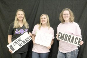 """On Wednesday, Feb. 24 Winona State set up """"Love Fest"""" with booths about body image, stress release and eating disorders, in occasion of """"National Eating Disorder Awareness Week."""" (Photo by Sara Tiradossi)"""