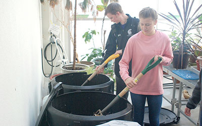 Class composts their way into Winona State legacy