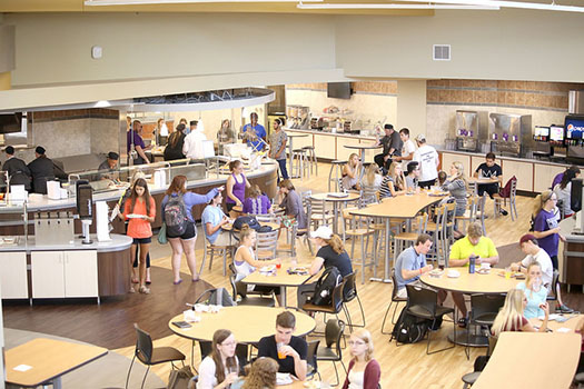 Winona State University's newly renovated Jack Kane Dining Hall opened to students at the start of fall semester after a series of transformations over the summer. (Photo by Kendahl Schlueter)