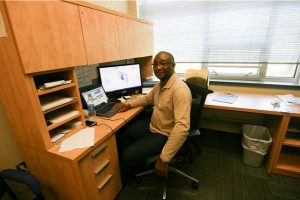 Benedict Ezeoke, Winona State University's new director for counseling services. (Photo by Lauren Reuteler)