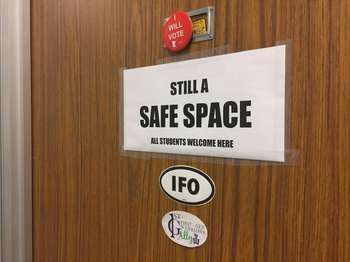 Safe Space stickers stolen from campus offices