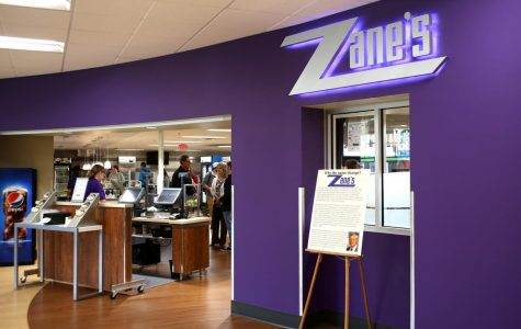 The entrance of the new food mart in Kryzsko Commons. The area, formerly known as The Smaug, was renamed Zane's.