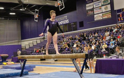 Gymnastics wins dual meet at home