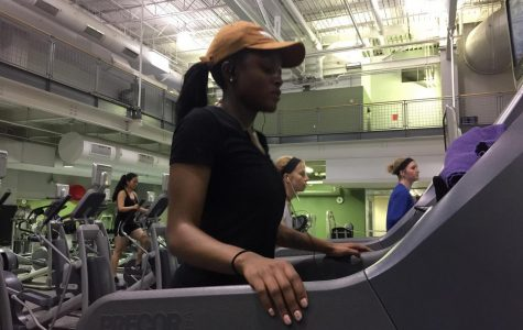 Sophomore Katia Rose enjoys working out in the IWC because she wants to be healthy and aware of how she treats her body.