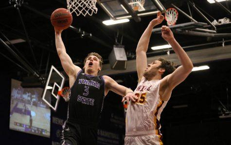 Men's basketball wins with season high