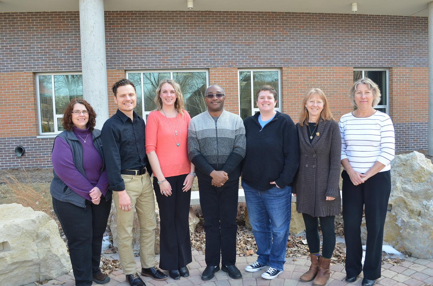 The Winona State counseling staff from left to right: Lynda Brzezinski, Mick Lynch, Kateri Johnson, Benedict Ogum Ezeoke, Eunie Alsaker and Debbie Dickenson. Last Wednesday, March 14, Student Senate voted in approval of an 18 percent hike of the student wellness fee in order to hire a new counselor. The hope is that this will help reduce the two-week wait time and provide students with another counselor to speak to.