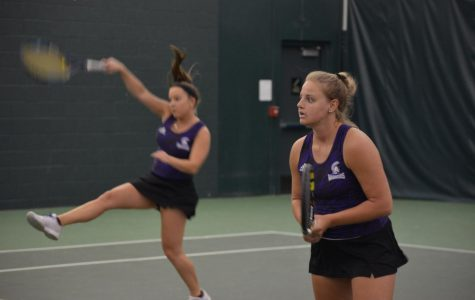 Tennis splits matches in South Dakota