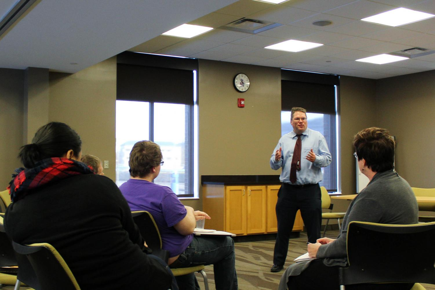 The Winona State Commission on Academic Freedom and Free Speech hosted forums in Haake Hall on Tuesday, April 17 and Wednesday, April 18 for students and community members to discuss the role the university plays in protecting and promoting free speech.