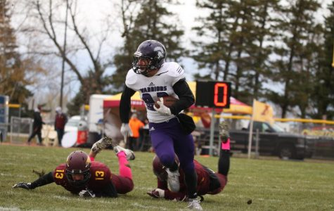 Football forces six fumbles in road win