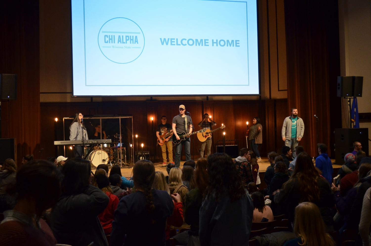 Chi Alpha is a national organization affiliated with 350 campuses and local roots as a campus ministry at Winona State. Starting each weekly Thursday meeting with a musical performance by staff members, all in attendance joins in and the time is used to connect with God.