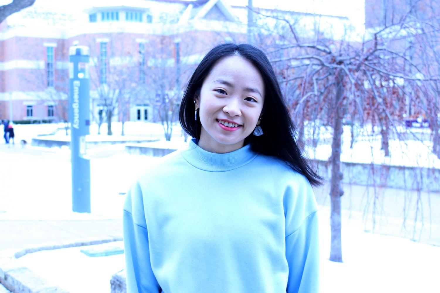 Jiayue Gu is a senior international student from China, majoring in clinical exercise. She is active in many campus organizations and is a peer tutor in Chinese, math, health science, geography and chemistry.