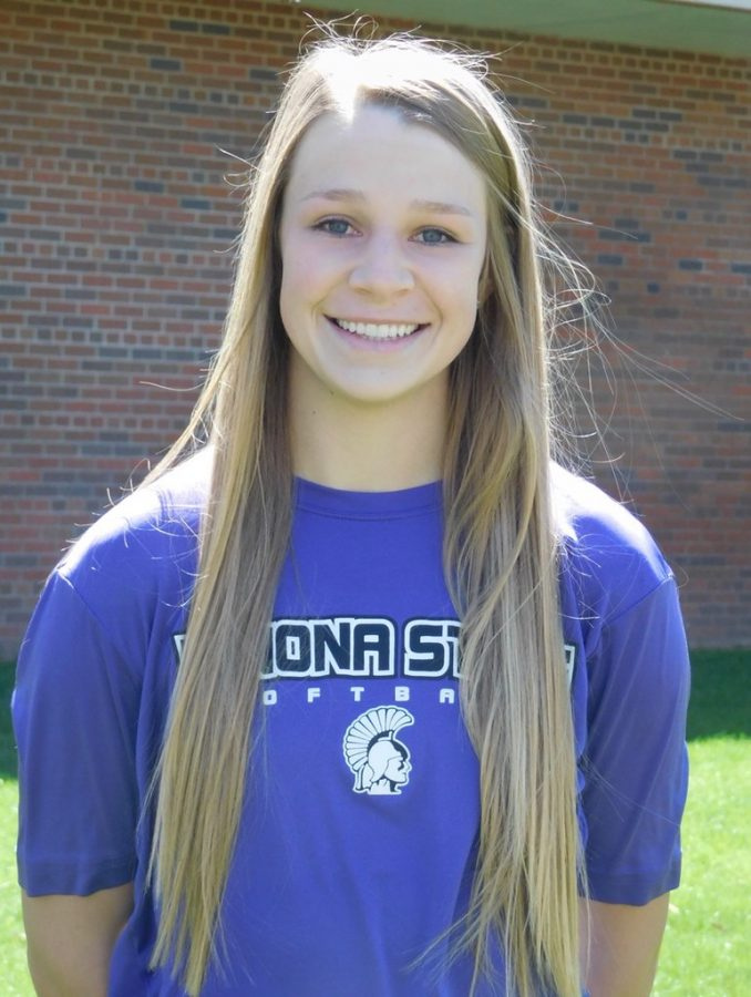 Junior+softball+pitcher+Jordyn+Kleman+poses+before+her+game+on+Friday%2C+April+26.+Kleman+was+recently+named+the+NSIC+Pitcher+of+the+Week+for+the+fifth+time+in+2019.+