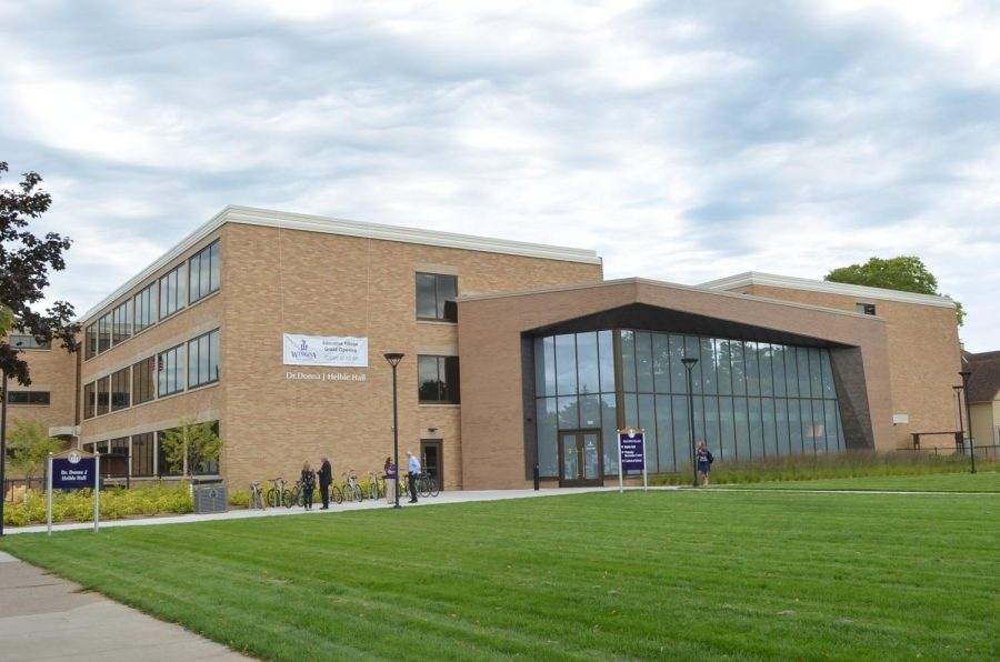 The newly opened Dr. Donna J. Helble Hall hosted the grand opening of Winona State's Education Village on Thursday, September 5. Four buildings make up Education Village, each tell the story of education history in Minnesota.