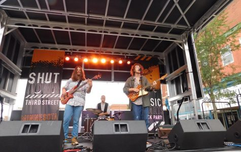 "Local band Afflatus played at the main stage during ""Shut Down Third Street"" on Saturday, Sept. 21. ""Shut Down Third Street"" went up and down Third Street from 12 p.m. - 1 a.m. and involved many local businesses and bands."