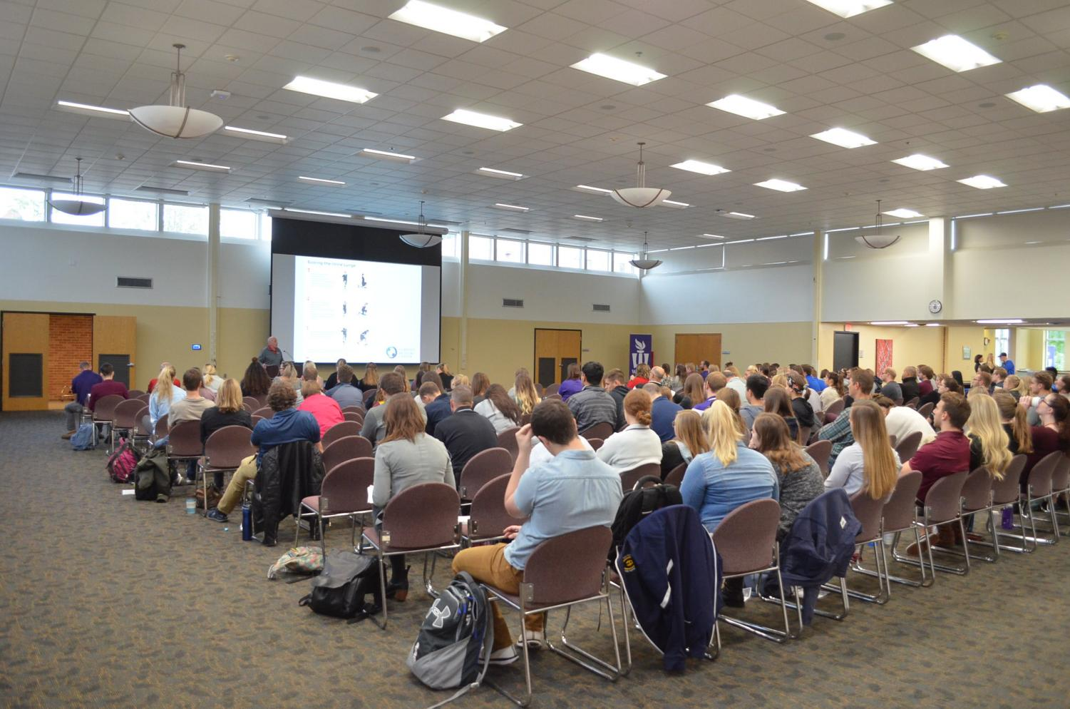 Undergraduate and graduate students from Minnesota, Nebraska, North Dakota and South Dakota attended the Northland American College of Sports Medicine fall conference on Oct. 3 - 4 in East Room. The conference included presentations, exhibits and meet and greets with experts in different medical fields related to sports medicine.