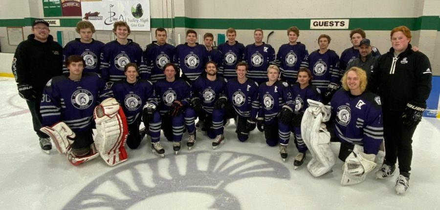 The Winona State Club Hockey team gathers for a group photo after a practice in La Crescent, Minnesota on Monday, Oct. 28. The team is currently 3-4 in its first year back in full conference play since 2016.