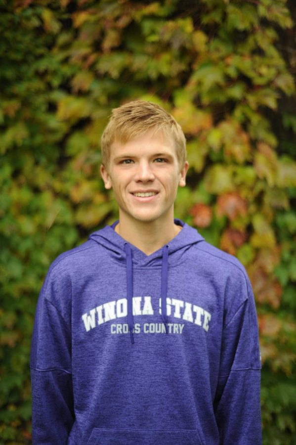 Winona state sophomore Josh Harpey is pictured for the player profile of the week. Jarpey runs for the men's cross country team and competed in all six races as a first-year.