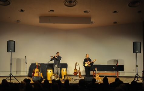 The music festival at the Recital Hall inside the Dusfresne Performing Arts Center featured world class musicians known as Artes Latinas on on Thursday. November 14, 2019. The performers included Ed East (left) and Karin Stein (right)  Ed East played the flute, while Stein played the ukele