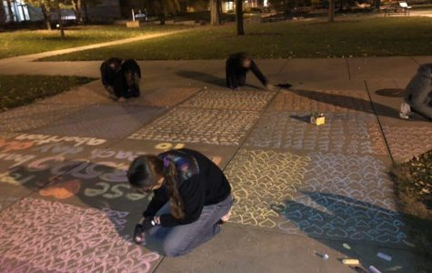Campus chalking raises debate