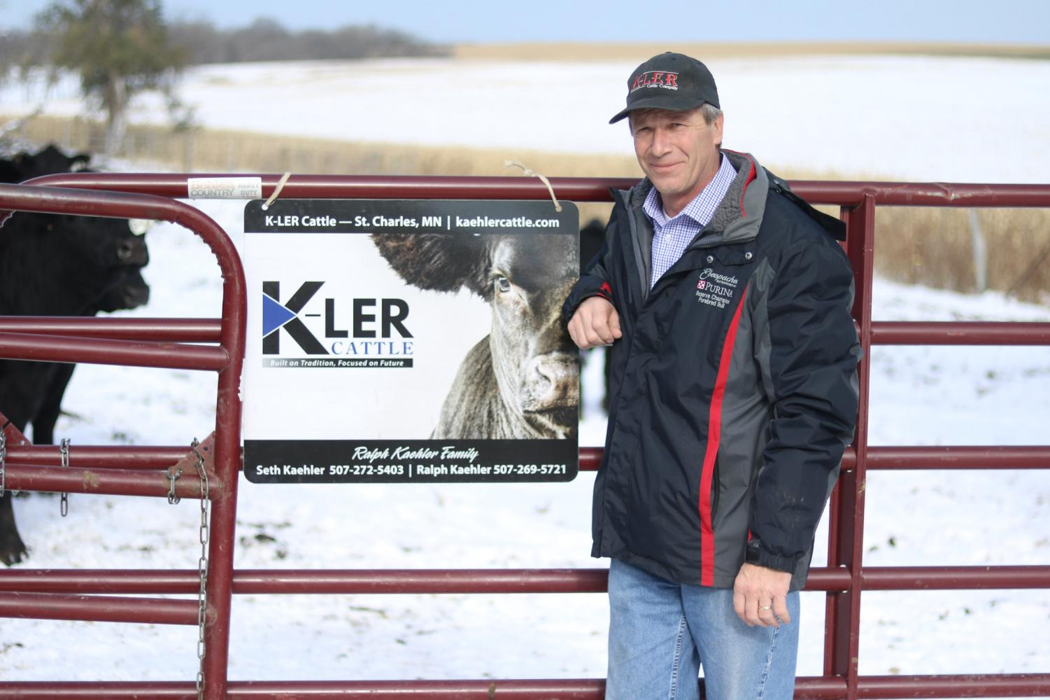 Ralph Kaehler, a Democratic candidate for the House of Representatives in Minnesota's First Congressional District, stands on his fourth-generation family farm in St. Charles, Minn.