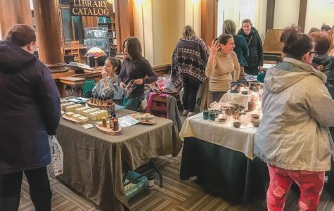 Local craftspeople and business owners gathered to sell their products at the Galentine's Day event at the Winona Public Library on Thursday, February 13th. Along with the vendors and crafts, there were snacks, a s'mores bar and a hot cocoa bar open to the guests.