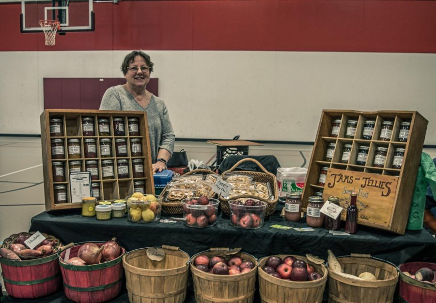 Esther Heyer has a booth at the Winona Farmers Market called Out on a Limb Orchard and Garden that has been selling fruit, vegetables, jams, jellies and more for the last 27 years. They donate their leftover products to the local churches to go to people in need.