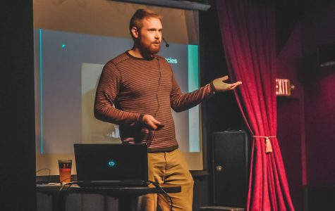 Patrick Clipsham, an associate professor of philosophy at Winona State University was one of the three speakers featured during Nerd Nite at Eds (no name) Bar on Wednesday, February 26th. He presented a philosophical analysis of the eight most common objections to ethical veganism.