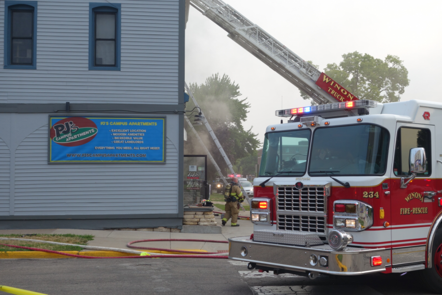 The Winona Fire Department was dispatched Monday after Zaza's, a local Winona business, caught fire at 7:30 a.m. The fire department was able to subdue the fire by 8 a.m.