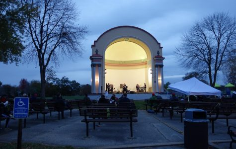 Minnesota Rapper NUR-D (Matt Alen) performed with a nine-piece band at the Winona Lake Park Bandshell on Saturday, Oct. 17. The event was hosted by Winona Parks and Recreation and was open to public via seating and drive-in.