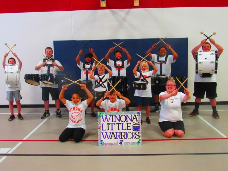 The Winona Little Warriors Drumline