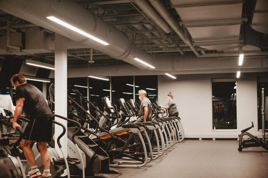 An indoor setting of the cardio gym at the Winona YMCA. Due to COVID policy changes at the fitness center, many students have chosen to go to different gyms in the Winona area instead of the IWC.
