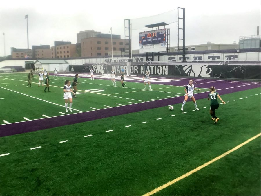 WSU+Women%E2%80%99s+soccer+team+suffered+a+defeat+to+University+of+Wisconsin-Parkside+in+the+season+opener%2C+3-1%2C+on+Friday%2C+Sept.+3+at+Altra+Credit+Federal+Union+Stadium.