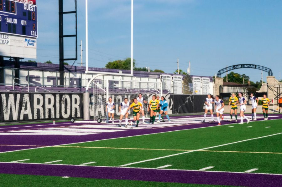 WSU+Womens+soccer+team+achieved+their+first+victory+on+their+second+game+of+the+season+against++Northern+Michigan+University%2C+1-0+on+Friday%2C+Sept.+10+at+Altra+Credit+Federal+Union+Stadium.