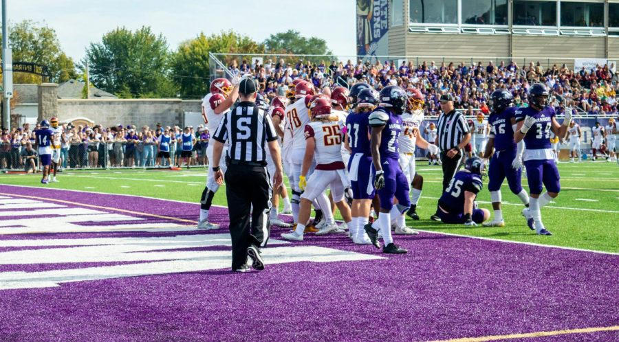 Winona State University's football team suffered a tough loss during homecoming weekend, falling 52-49 to Northern State University, their season record now sitting at 3-3. The game began at 2 p.m. on Saturday, Oct. 9 on home turf at Maxwell Field with stands full on every side for the festive game. While the Warriors suffered their second loss in a row, player Jake Balliu was named the NSIC Special Teams Player of the Week following the game. The Warriors will play again at Maxwell Field next week on Oct. 16 against Southwest Minnesota State University.